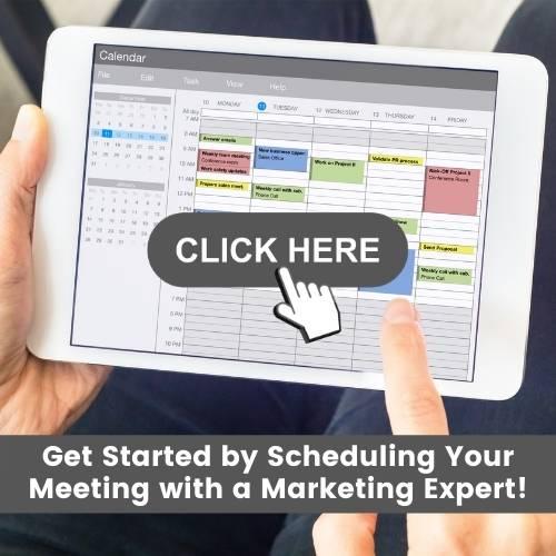 Marketing consultation booking calendar on iPad